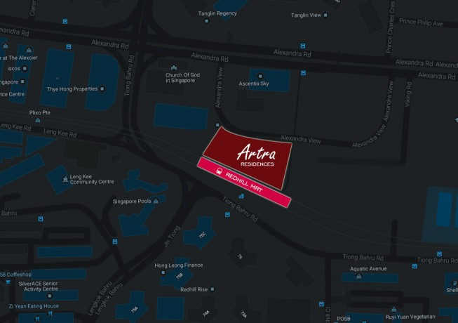 Map of Artra Condo