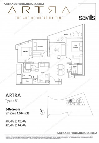 3 Bedroom B1