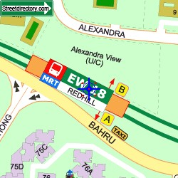 Artra Condo Redhill MRT Map View