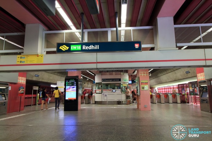 Redhill MRT Station Internal